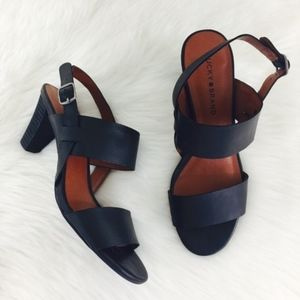 Lucky Brand Patie Leather Heels in Black